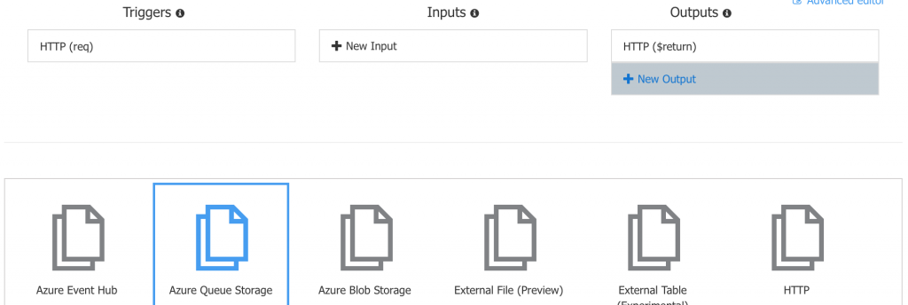 Create Azure Queue Storage Output